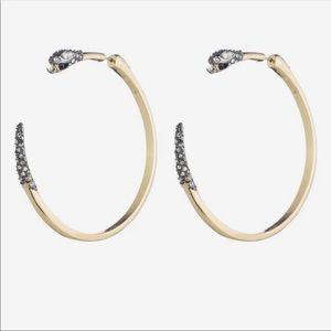 NWOT Alexis Bitter Snake Crystal Earrings
